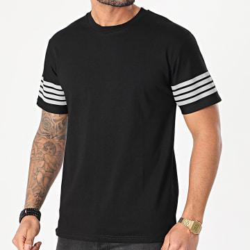 John H - Tee Shirt XW929 Noir Réfléchissant