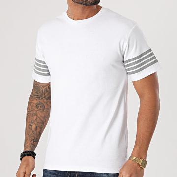John H - Tee Shirt XW929 Blanc Réfléchissant
