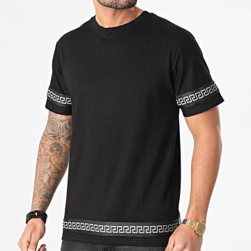 John H - Tee Shirt XW916 Noir Renaissance Réfléchissant