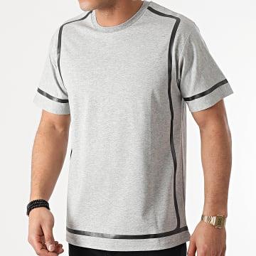 John H - Tee Shirt XW928 Gris Chiné