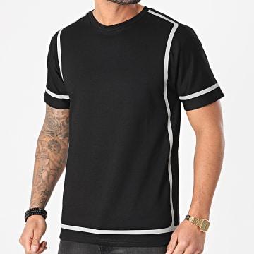 John H - Tee Shirt XW928 Noir Réfléchissant