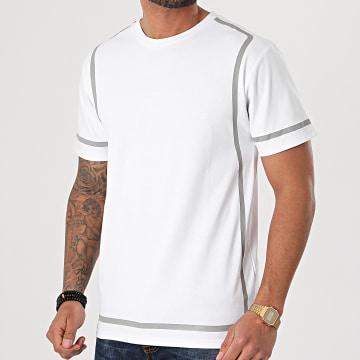 John H - Tee Shirt XW928 Blanc Réfléchissant