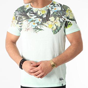 La Maison Blaggio - Tee Shirt Floral Murol Vert Clair