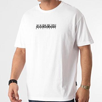 Napapijri - Tee Shirt S-Box A4FF5 Blanc