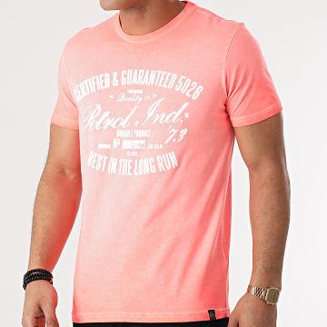 Petrol Industries - Tee Shirt 607 Rose Vif Chiné