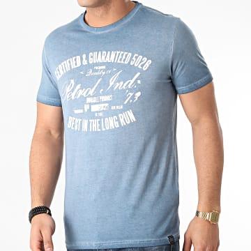 Petrol Industries - Tee Shirt 607 Bleu Chiné
