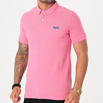 Superdry - Polo Manches Courtes Classic Pique M1110004A Rose