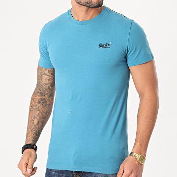 Superdry - Tee Shirt OL Vintage Embroidery M1000020A Bleu Clair