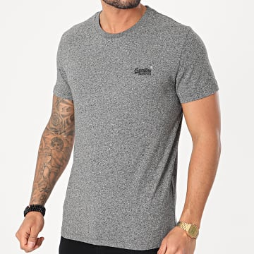 Superdry - Tee Shirt OL Vintage Embroidery M1010222A Gris Chiné
