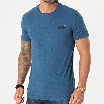 Superdry - Tee Shirt OL Vintage Embroidery M1010222A Bleu Azur Chiné
