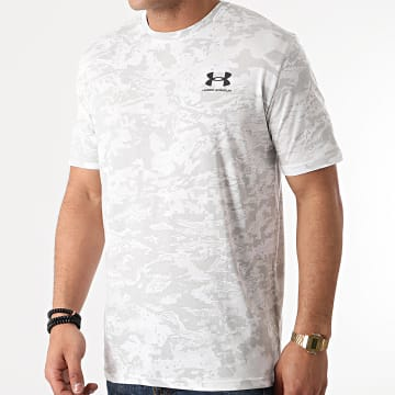 Under Armour - Tee Shirt Camouflage 1357727 Blanc Gris