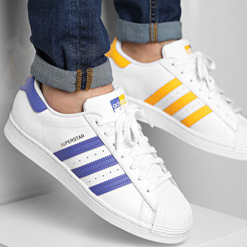 Adidas Originals - Baskets Superstar FX5529 Footwear White Purple Gold Metallic