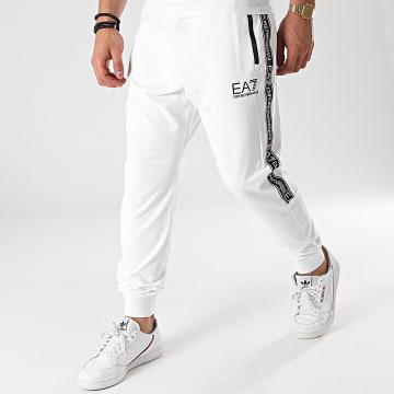 EA7 Emporio Armani - Pantalon Jogging A Bandes 3KPP51-PJ05Z Blanc