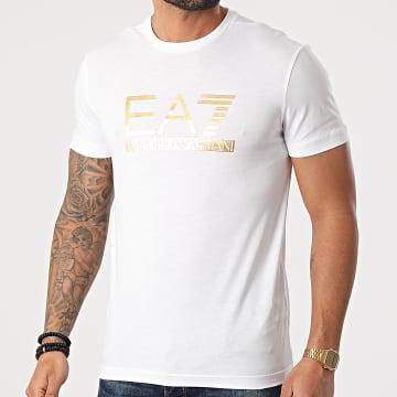 EA7 Emporio Armani - Tee Shirt 3KPT87-PJM9Z Blanc Doré