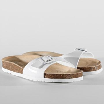 Pepe Jeans - Sandales Femme Oban Basic PLS90524 Blanc