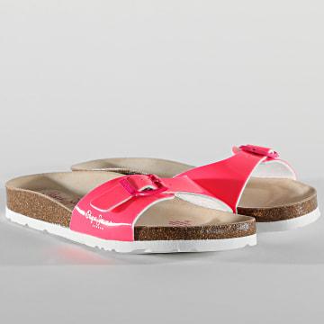 Pepe Jeans - Sandales Femme Oban Basic PLS90524 Rose Fluo