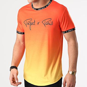 Project X - Tee Shirt Oversize 2110151 Orange Jaune Dégradé
