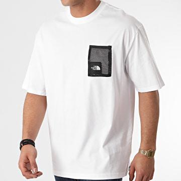 The North Face - Tee Shirt Poche Black Box A557K Blanc