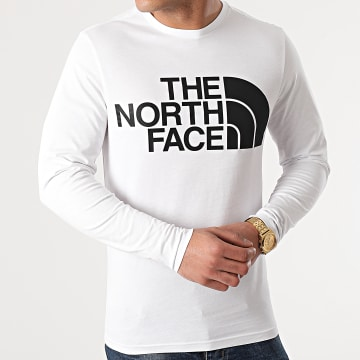The North Face - Tee Shirt Manches Longues Standard A5585 Blanc
