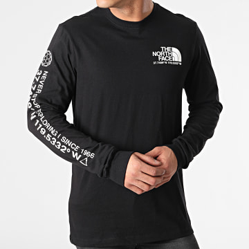 The North Face - Tee Shirt Manches Longues Coordinates 55VC Noir