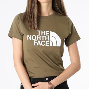 The North Face - Tee Shirt Femme Easy A4T1Q Vert Kaki