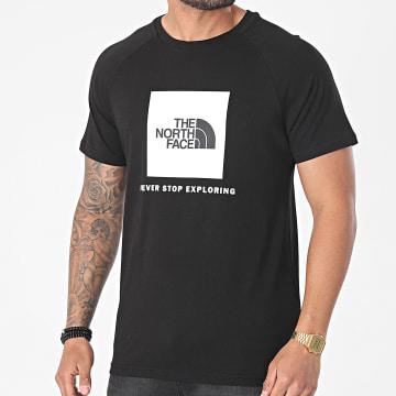 The North Face - Tee Shirt Raglan Red Box A3BQO Noir