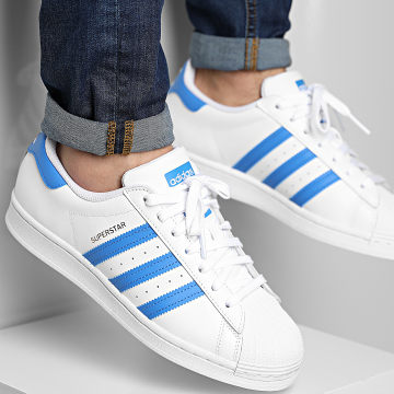 Adidas Originals - Baskets Superstar H68093 Footwear White True Blue Gold Metallic