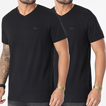 BOSS - Lot De 2 Tee Shirts Col V RN 50377779 Noir