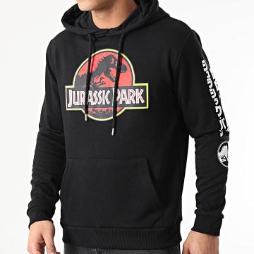 Jurassic Park - Sweat Capuche Jurassic Park Original Logo Sleeve Noir