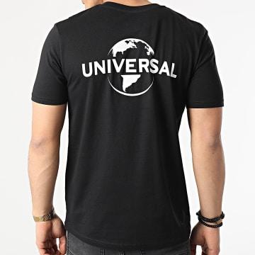 Universal Studio - Tee Shirt Universal Logo Mono Back Noir Blanc