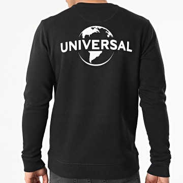 Universal Studio - Sweat Crewneck Universal Logo Mono Back Noir Blanc