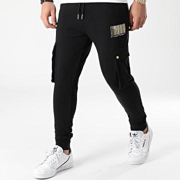 Gianni Kavanagh - Pantalon Jogging Barcode Joggers GKM001642 Noir Doré