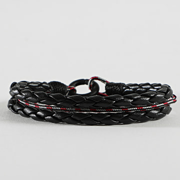 Icon Brand - Bracelet Cord And Effect Noir