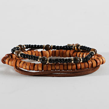 Icon Brand - Bracelet Shake Up Combo Marron