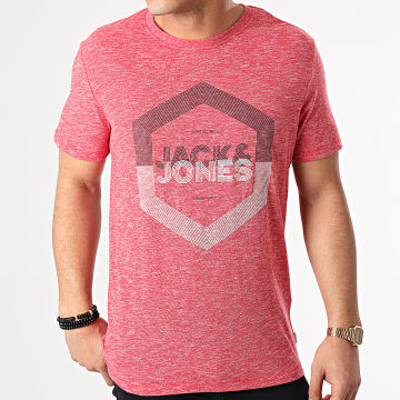 Jack And Jones - Tee Shirt Delight Rouge Chiné