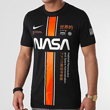 NASA - Tee Shirt Stripe Noir Custom