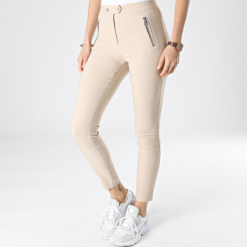 Only - Legging Femme Jamila Beige