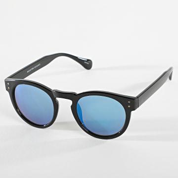 Selected - Lunettes De Soleil Mikas 16078432 Noir Bleu