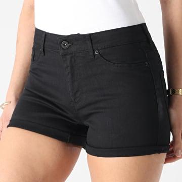 Vero Moda - Short Jean Femme Seven Noir