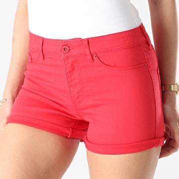 Vero Moda - Short Jean Femme Seven Rouge