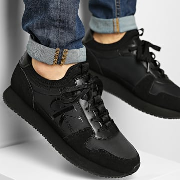 Calvin Klein - Baskets Runner Sock Laceup 0040 Full Black