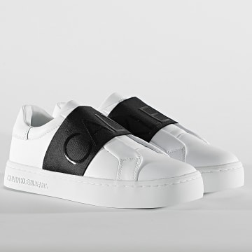 Calvin Klein - Baskets Femme Cupsole Slip-On 0160 Bright White