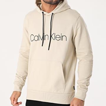 Calvin Klein - Sweat Capuche Cotton Logo 7033 Beige
