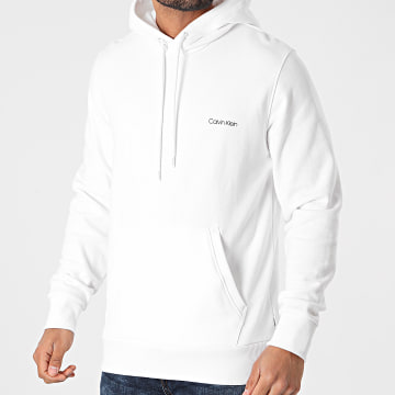 Calvin Klein - Sweat Capuche Small Chest Logo 7165 Blanc