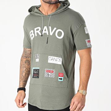 Classic Series - Tee Shirt Oversize A Capuche G21-038 Vert Kaki