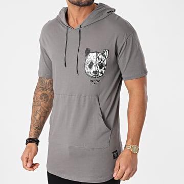 Classic Series - Tee Shirt Oversize A Capuche G21-030 Gris