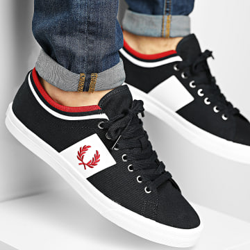 Fred Perry - Baskets Underspin Tipped Cuff Twill B7106 Navy