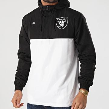 New Era - Coupe-Vent A Capuche Colour Block Las Vegas Raiders 12553284 Noir Blanc