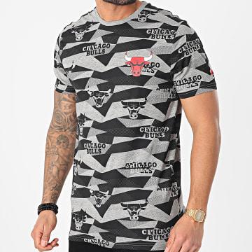 New Era - Tee Shirt Los Angeles Lakers NBA Geometric AOP 12553328 Gris Noir