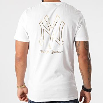 New Era - Tee Shirt Metallic Tee New York Yankees 12590864 Blanc Doré